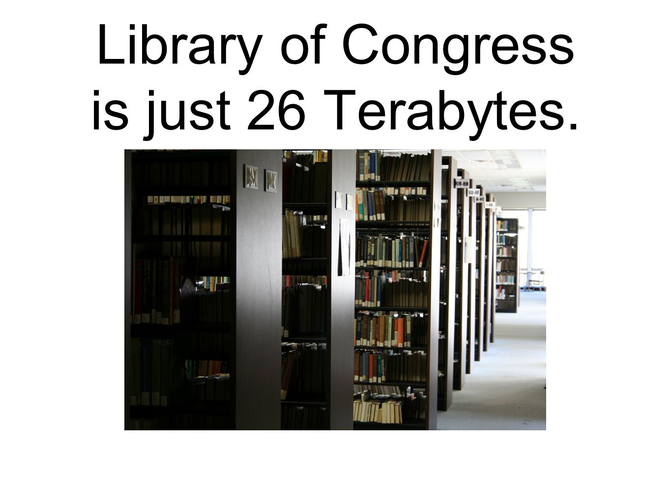 Library of Congress is just 26 Terabytes.