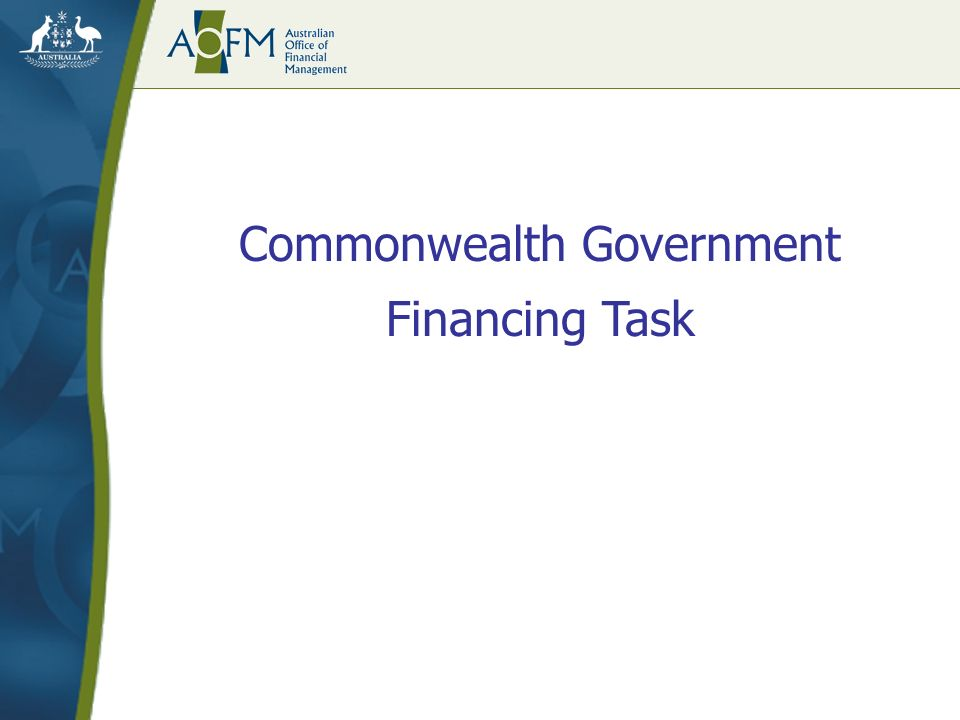 Commonwealth Government Financing Task