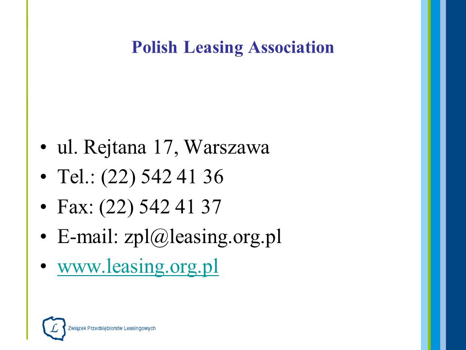 Polish Leasing Association ul.