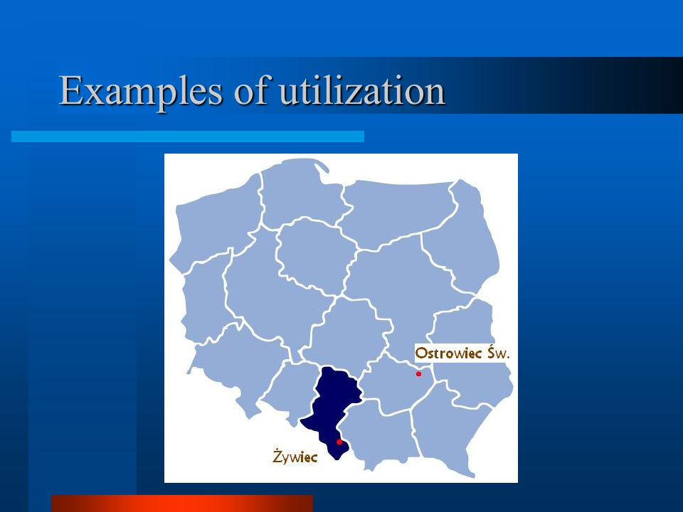 Examples of utilization