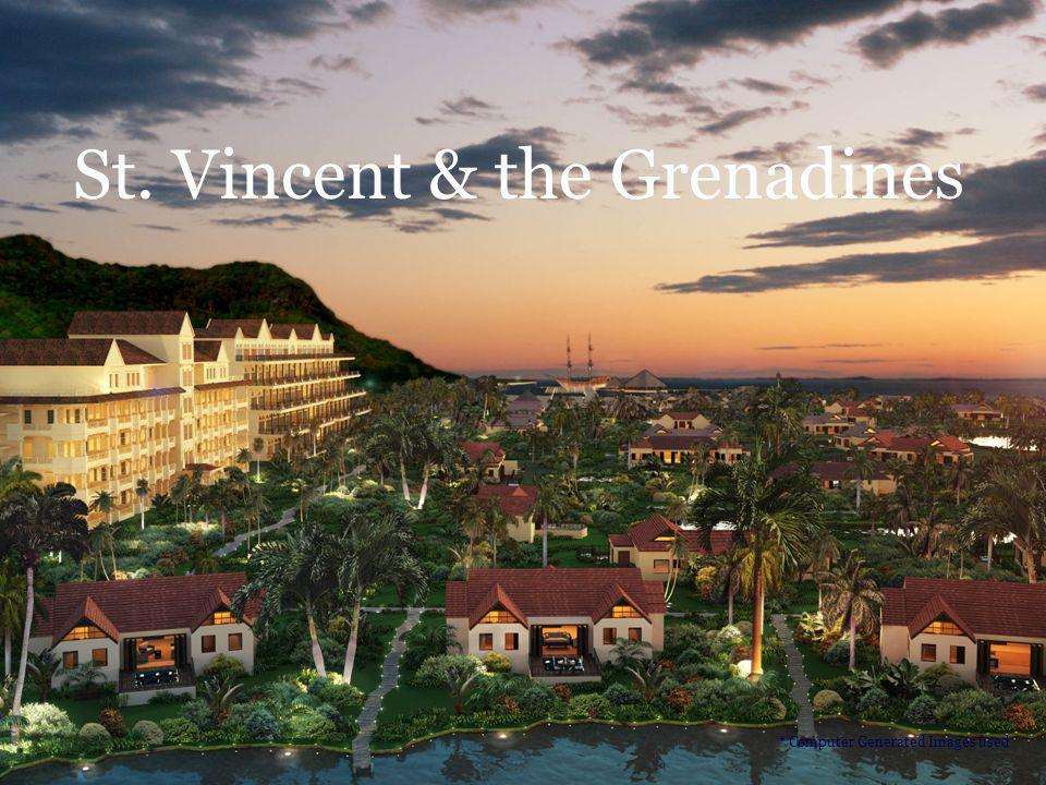St. Vincent & the Grenadines * Computer Generated Images used