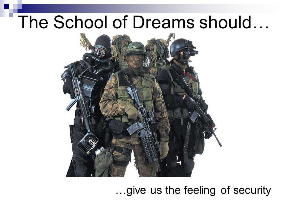 The School of Dreams should… …give reasons for feeling
