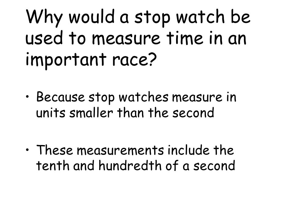 Time Measuring Time