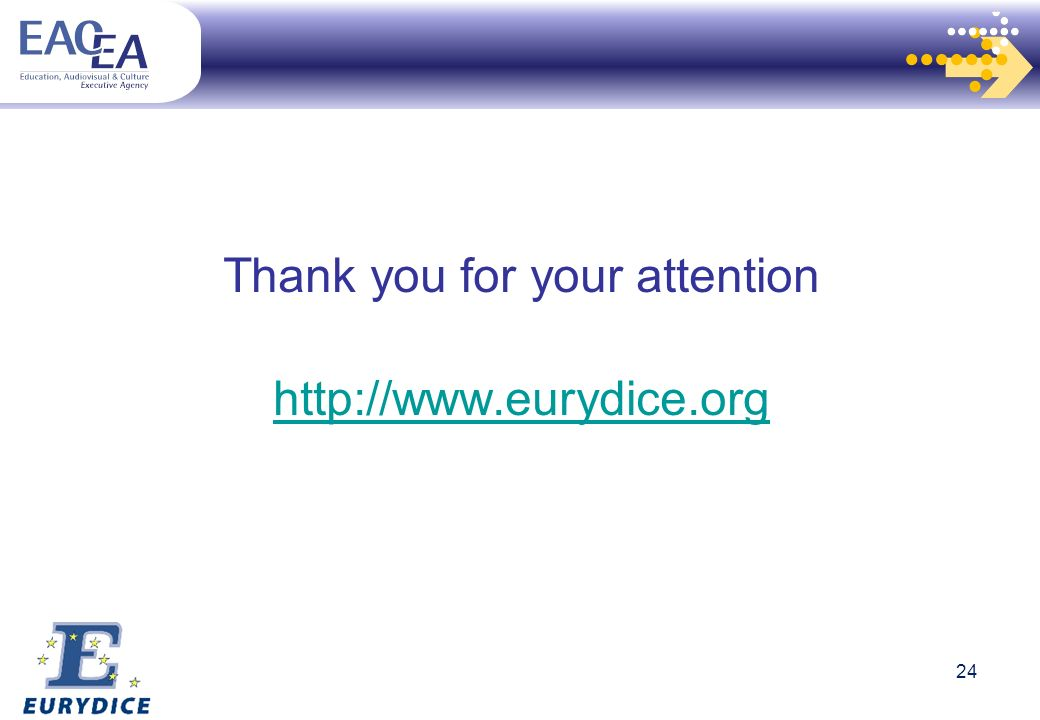 24 Thank you for your attention http://www.eurydice.org