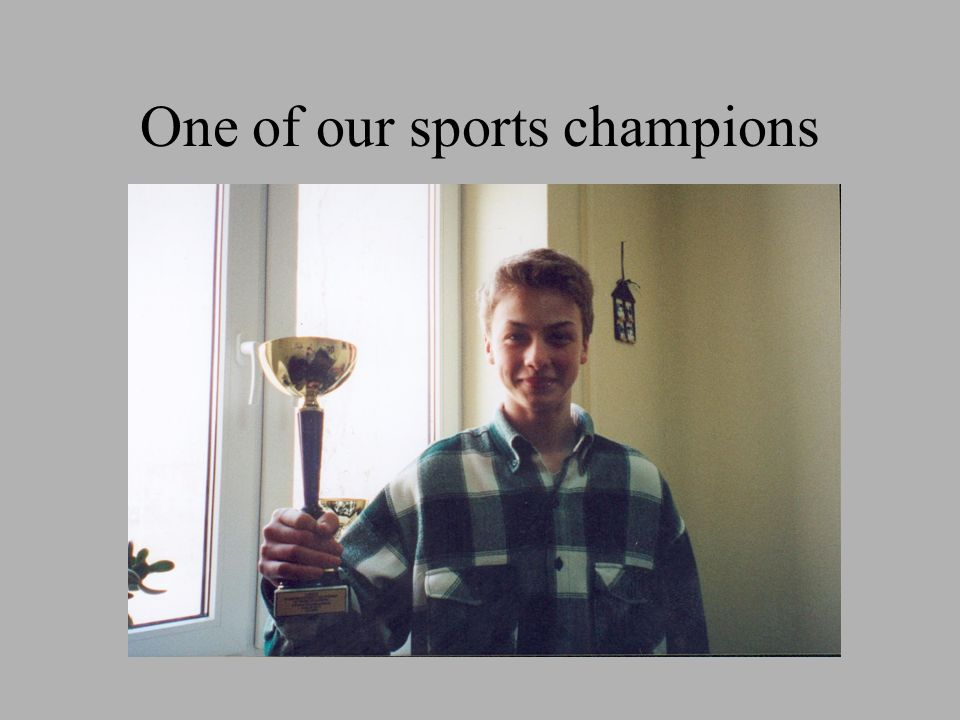 One of our sports champions