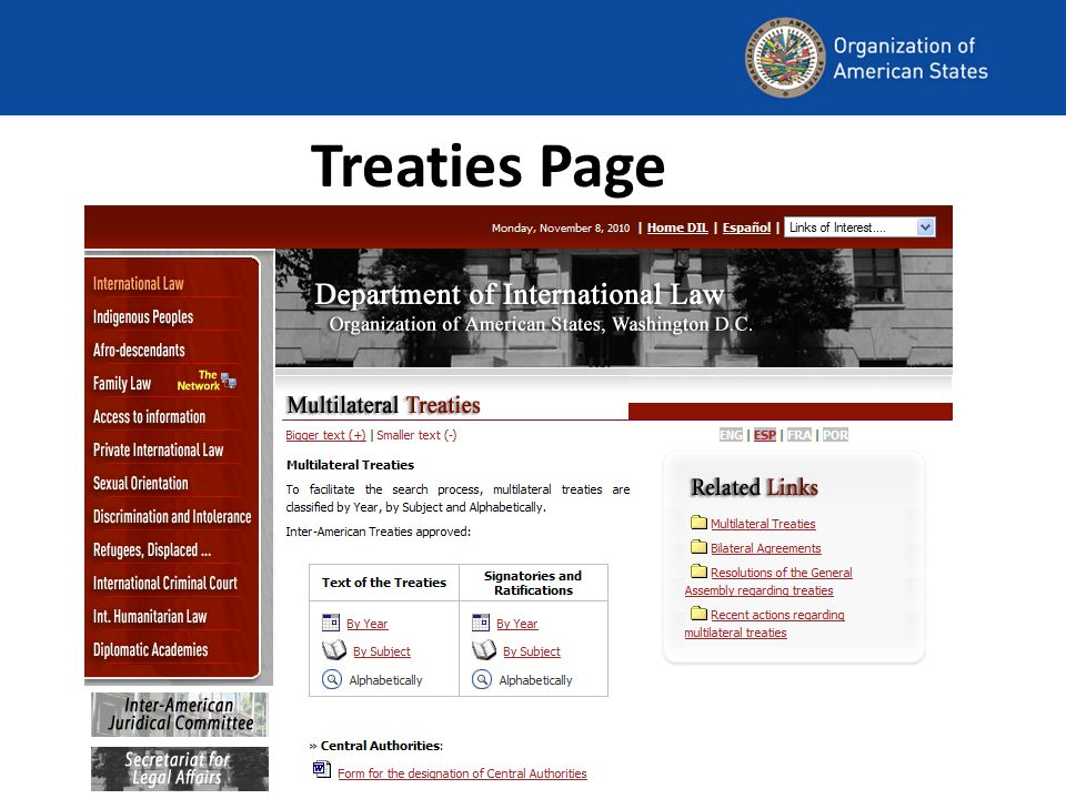Treaties Page