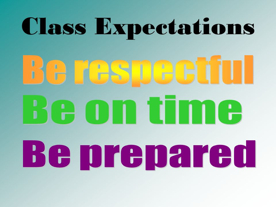 Class Expectations