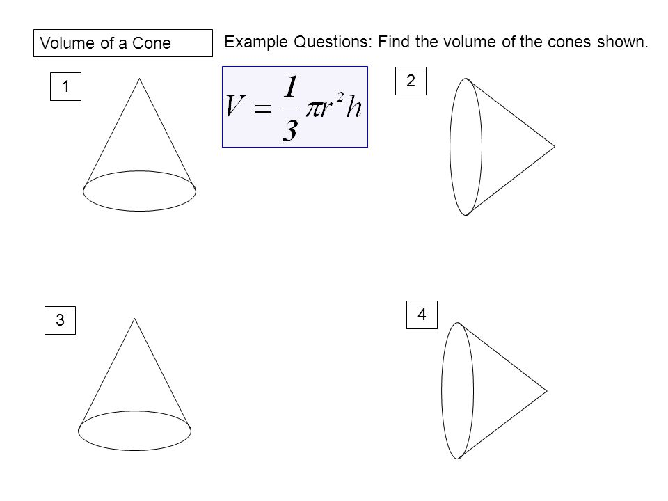 Investigation Purpose To Determine The Relationship Between. Worksheet. Volume Of A Cone Worksheet At Clickcart.co