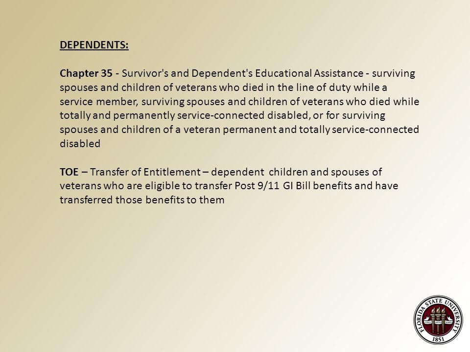 Using VA Benefits At The Florida State University  - ppt download