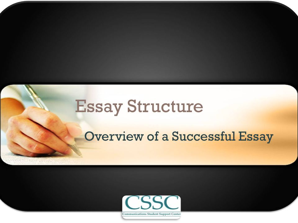 Essay Structure Overview of a Successful Essay