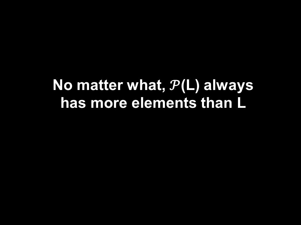 No matter what, (L) always has more elements than L