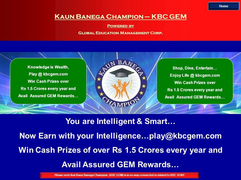 Kaun Banega Champion – KBC GEM Powered by Global Education