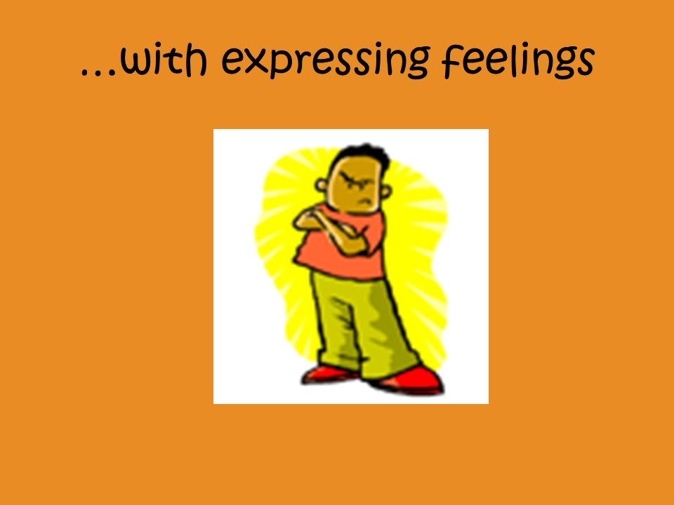 …with expressing feelings