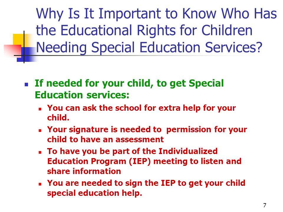 Important Special Education Rights That >> 1 Education Parents Legal Guardian Legal Rights And