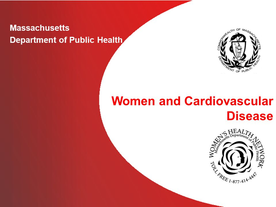 Massachusetts Department of Public Health Women and Cardiovascular Disease