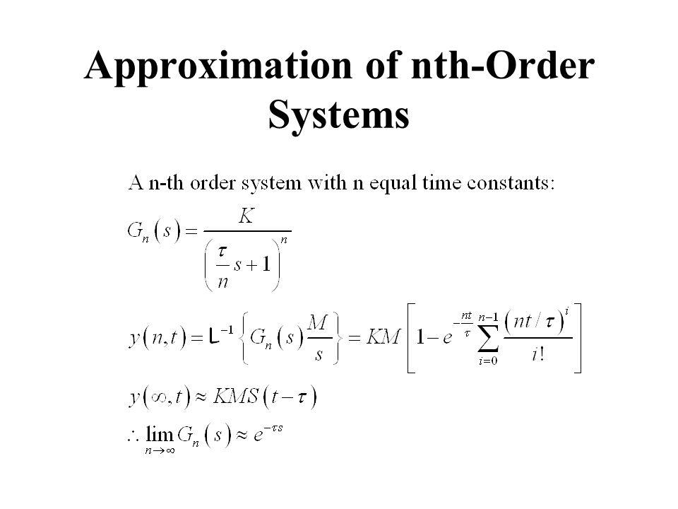 Approximation of nth-Order Systems