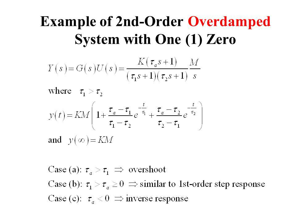 Example of 2nd-Order Overdamped System with One (1) Zero