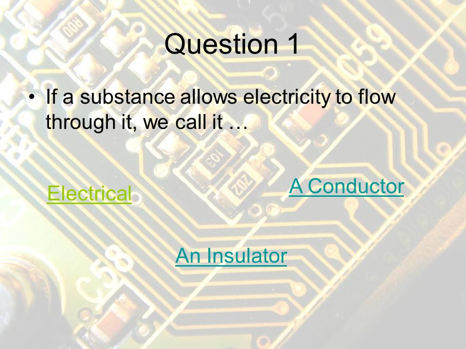 Instructions You will see a series of questions on the last topic Click on the answer you think is correct Some pages use underlined answers, some use buttons or pictures