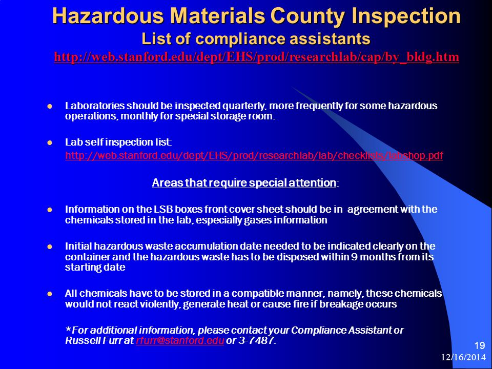 12/16/ What does the Haz Mat Division Do? We provide software and