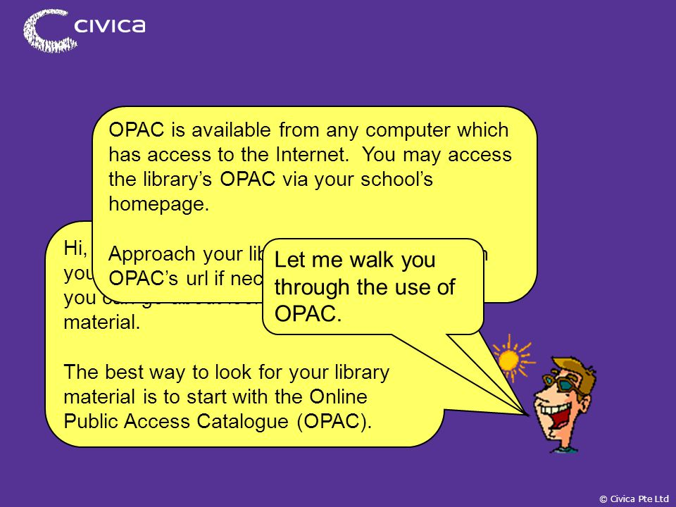 spydus civica pte ltd online public access catalogue opac a self rh slideplayer com  spydus 10 user guide