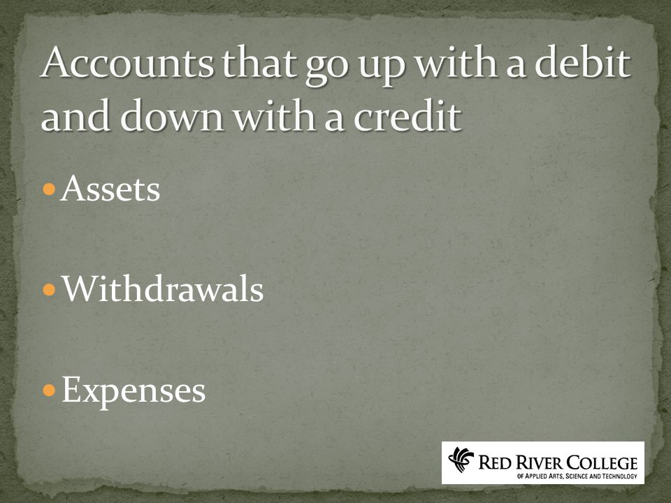 Assets Withdrawals Expenses