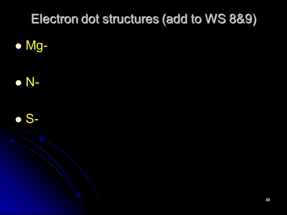Valence electrons Related to the group number in the periodic table Related to the group number in the periodic table Group 1A = 1 valence electrons Group 1A = 1 valence electrons Group 2A = 2 valence electrons Group 2A = 2 valence electrons Group 8A = 8 valence electrons Group 8A = 8 valence electrons
