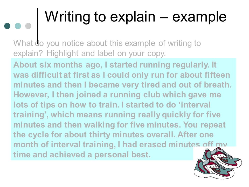 writing to explain examples