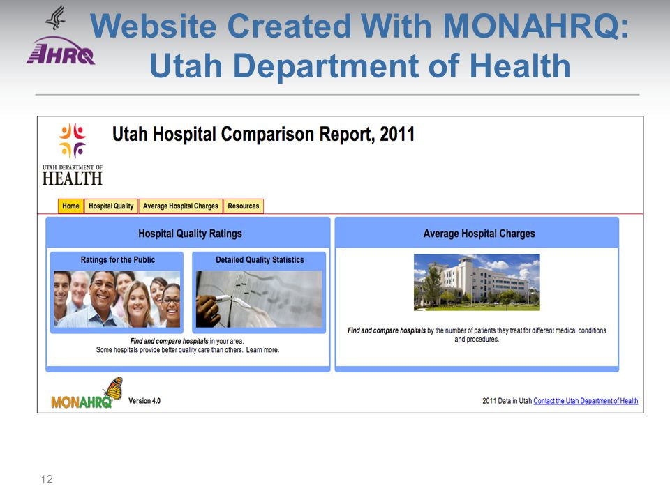 Website Created With MONAHRQ: Utah Department of Health 12
