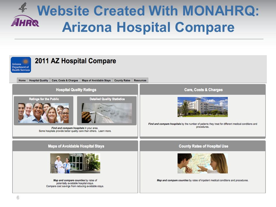 Website Created With MONAHRQ: Arizona Hospital Compare 6