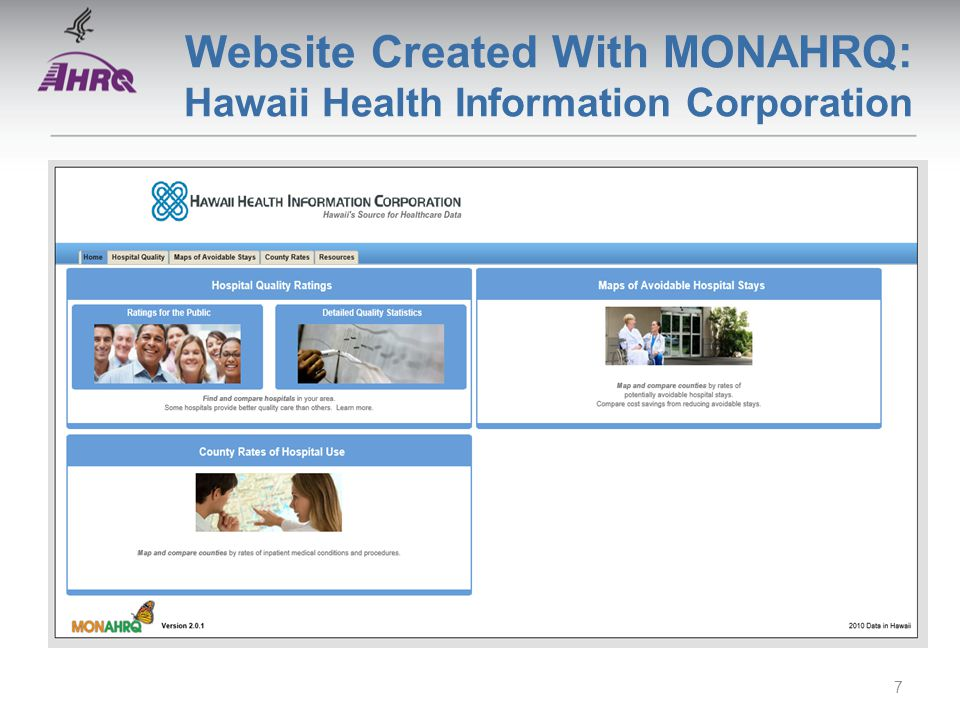 Website Created With MONAHRQ: Hawaii Health Information Corporation 7