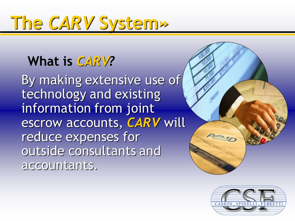 announcing the carv system from cashin spinelli ferretti llc is