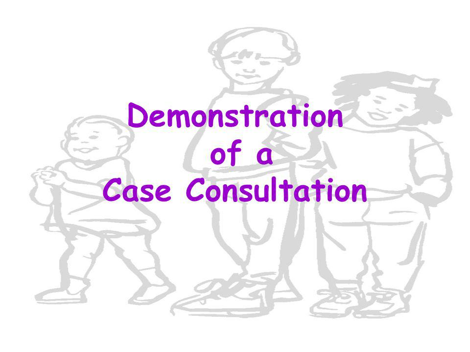 Demonstration of a Case Consultation