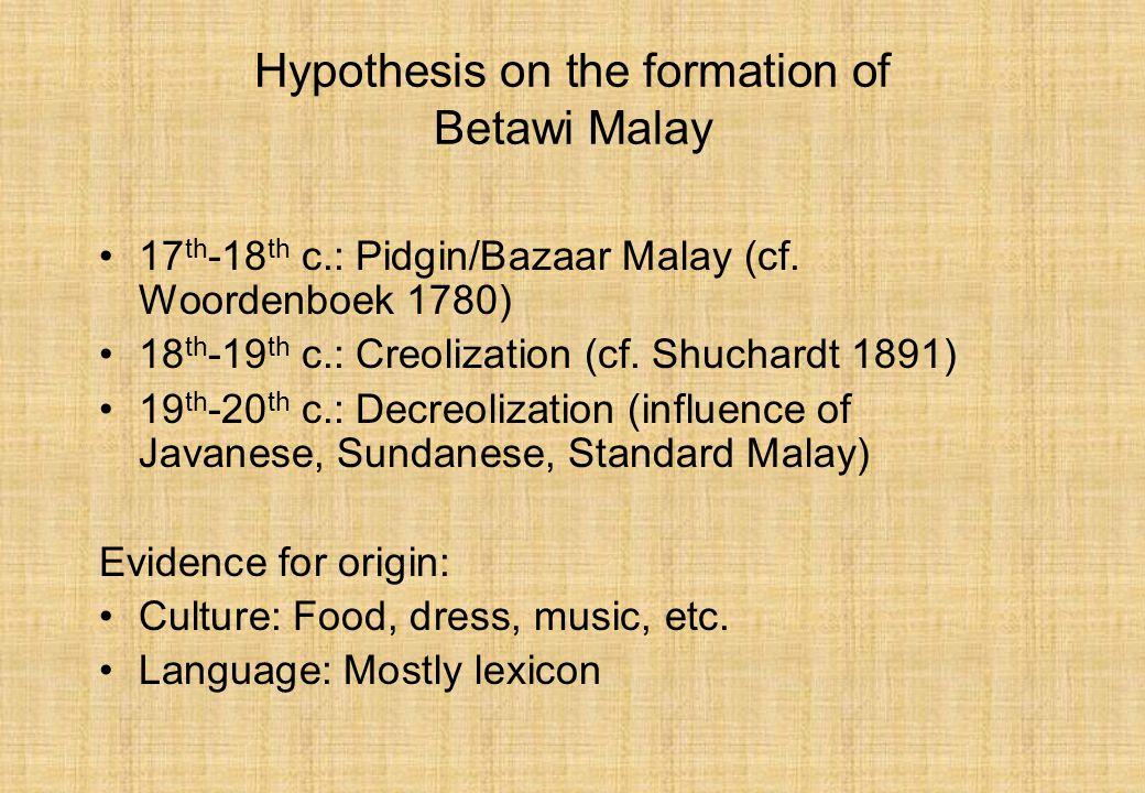 Local Lexical Elements In Jakarta Indonesian Uri Tadmor Max Planck