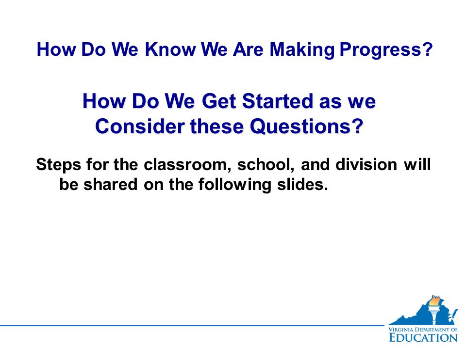 How Do We Get Started as we Consider these Questions.
