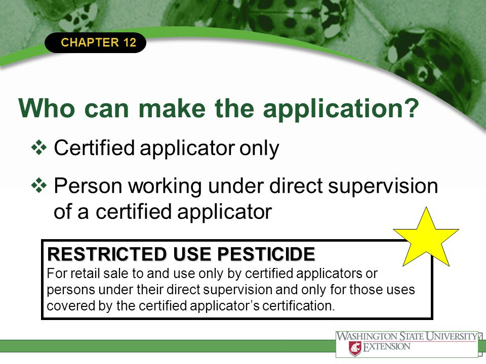 Chapter 12 Professional Conduct Chapter 12 National Pesticide