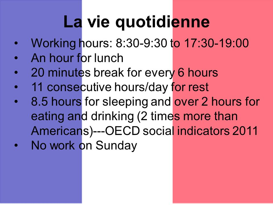 Temps De Travail En France Dure Lgale Du 35 Hours Each