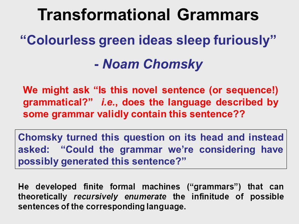 "Transformational Grammars ""Col..."