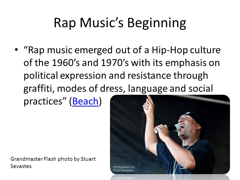 Hip Hop Culture and Rap Music A Reflection of African