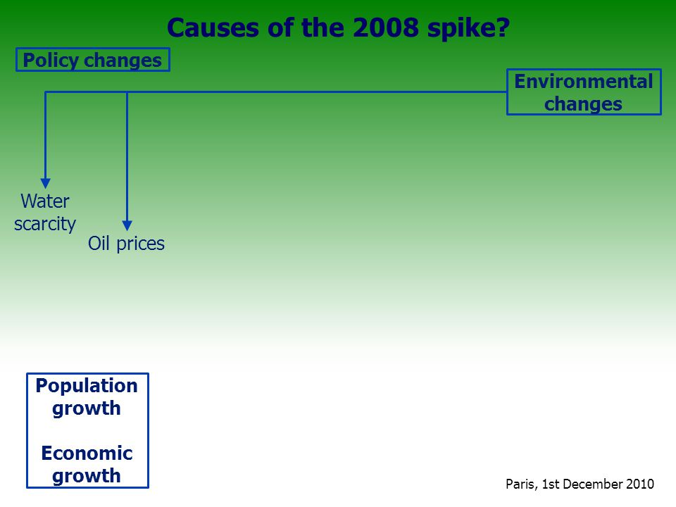 Causes of the 2008 spike.