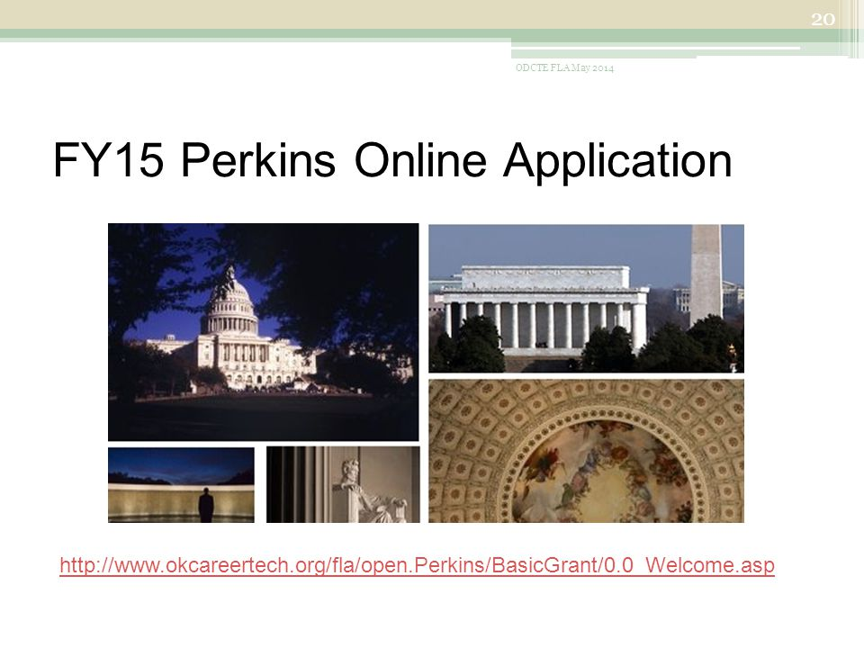 FY15 Perkins Online Application ODCTE FLA May