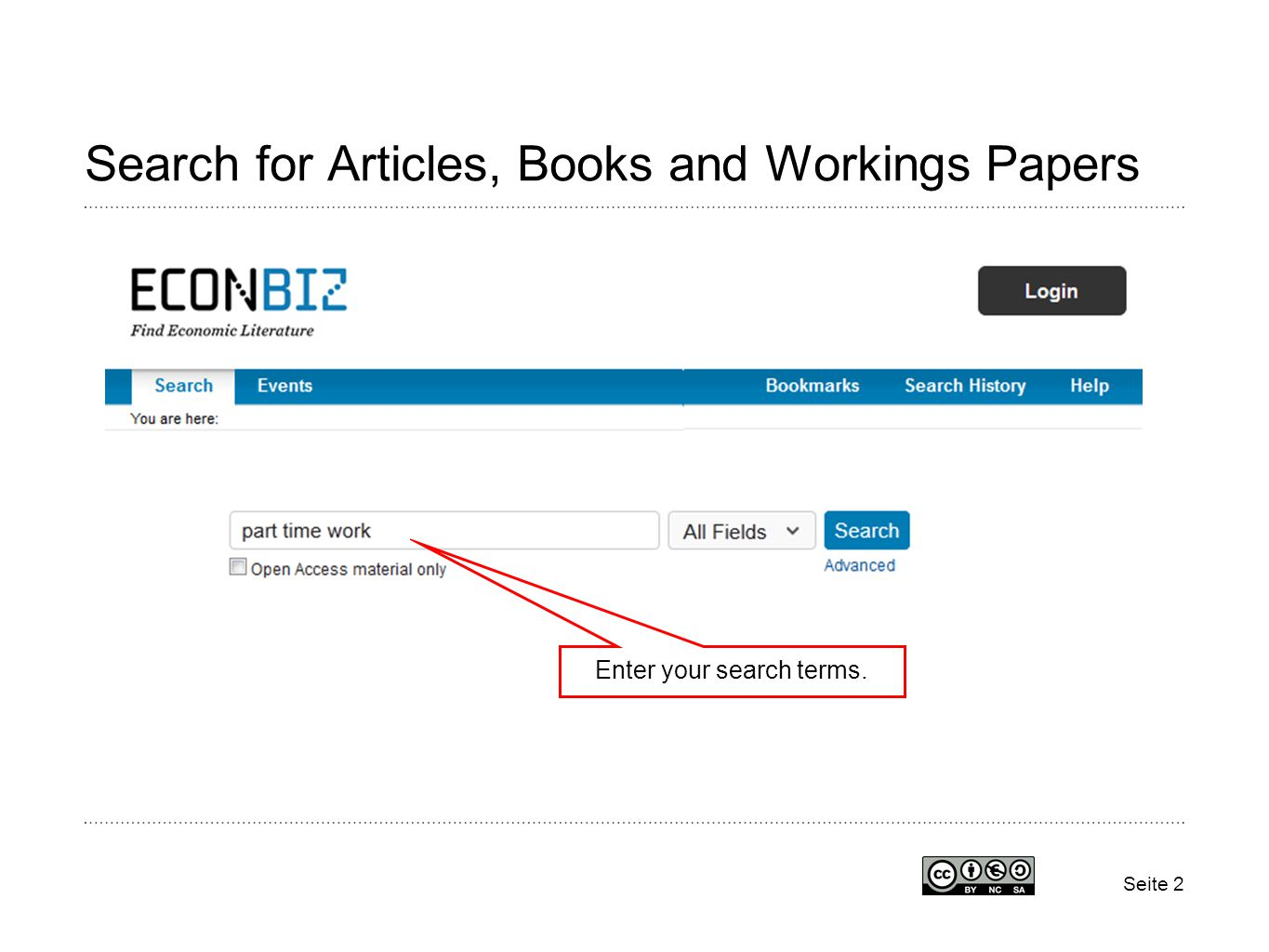 Seite 2 Search for Articles, Books and Workings Papers Enter your search terms.