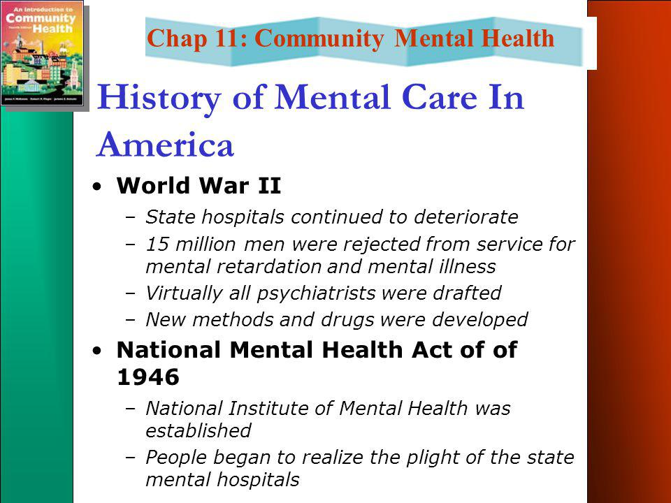 Chap 11 Community Mental Health Instructor S Name Semester 200