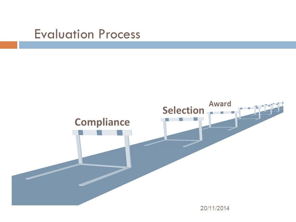 Evaluation Process Compliance Selection Award 20/11/2014