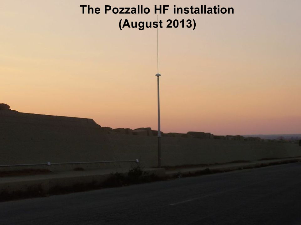 The Pozzallo HF installation (August 2013)