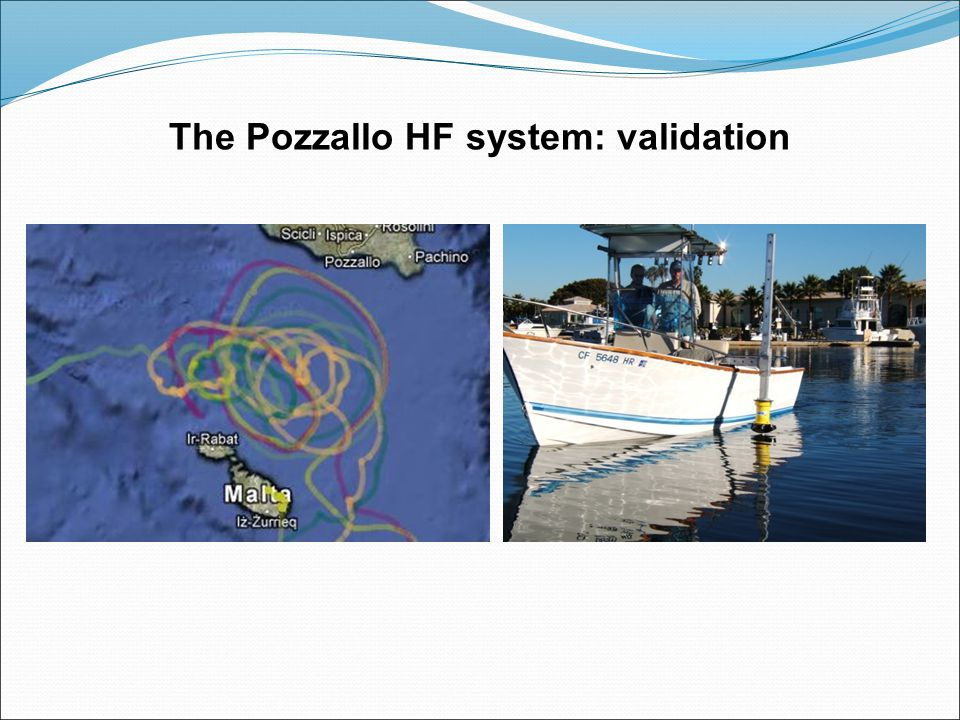 coverage until the 24° Aug. The Pozzallo HF system: validation
