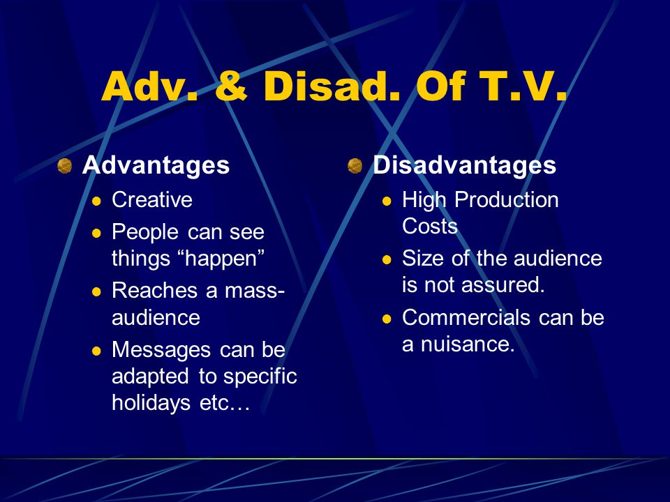 Adv. & Disad. Of T.V.