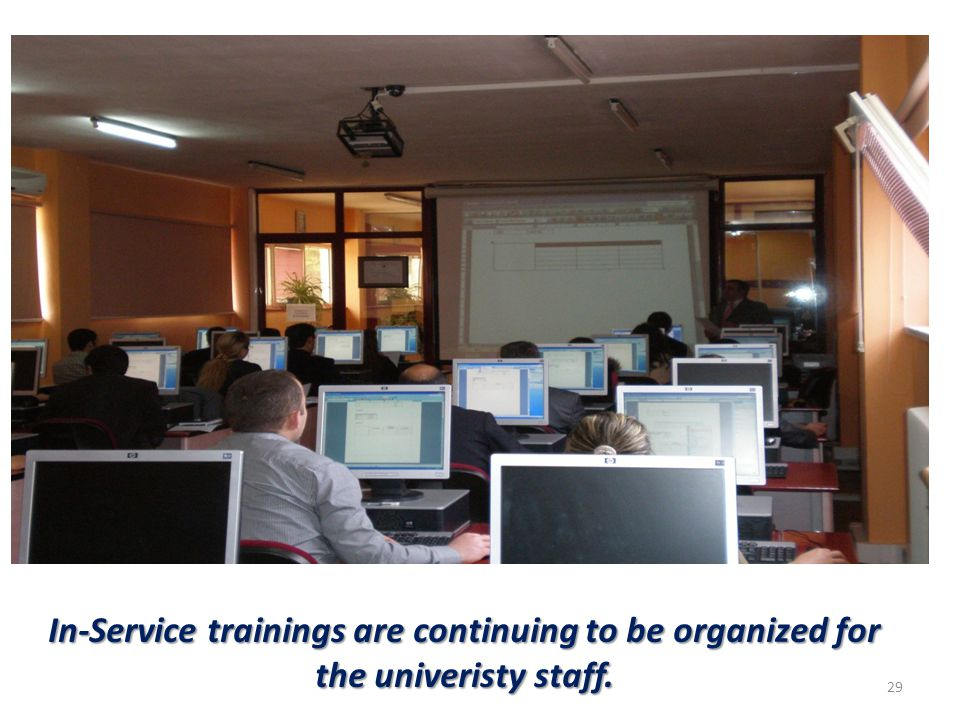 29 In-Service trainings are continuing to be organized for the univeristy staff.