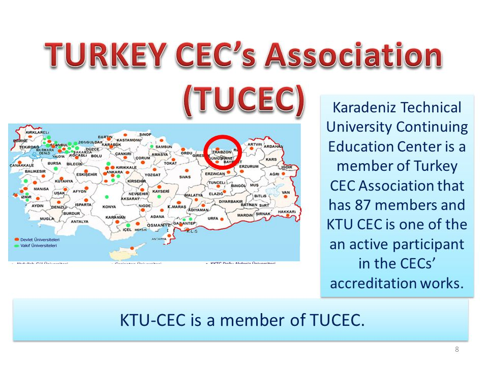 KTU-CEC is a member of TUCEC.