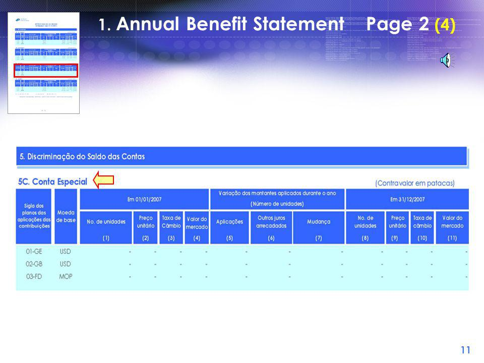 10 1. Annual Benefit Statement Page 2 (3)