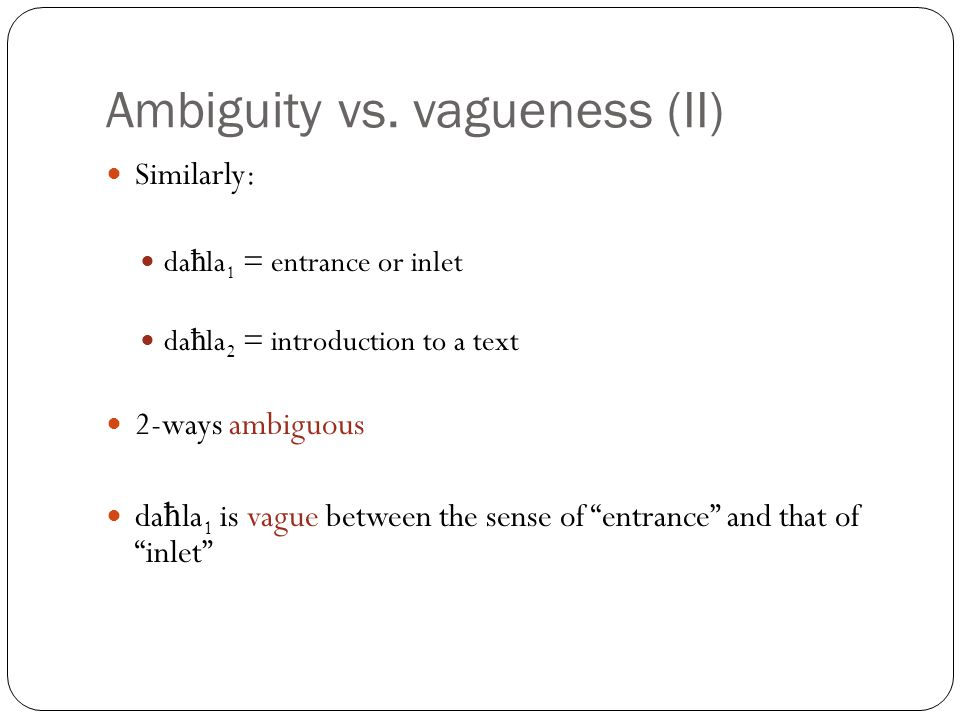 VAGUENESS AND AMBIGUITY EBOOK